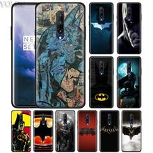 Marvel Batman Comic superhero Phone Case for Oneplus 7 7Pro 6 6T Oneplus 7 Pro 6T Black Silicone Soft Case Cover
