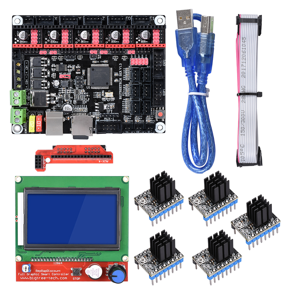 BIGTREETECH SKR V1 3 32 Bit 3D Printer Controller Board With 12864 LCD TMC2208 A4988 Compatible