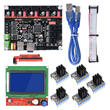 BIGTREETECH SKR V1.3 32 Bit 3D Printer Controller Board With 12864 LCD TMC2208 A4988 Compatible Smoothieboard  3d printer diy biqu rumba 3d printer rumba control board lcd 12864 controller display jumper wire a4988 or drv8825 for reprap 3d printer