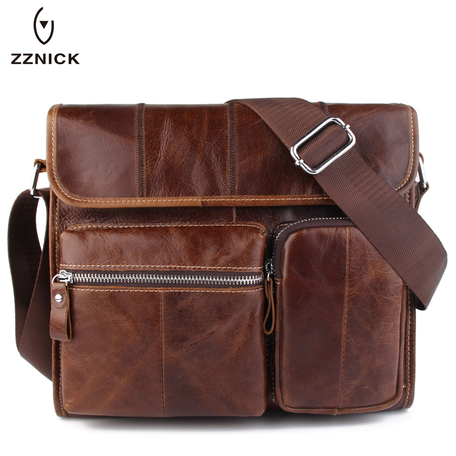 ZZNICK Genuine Leather bag Men Bags Messenger casual Men's travel bag leather clutch crossbody bags shoulder Handbags 2017 NEW neweekend genuine leather bag men bags shoulder crossbody bags messenger small flap casual handbags male leather bag new 5867