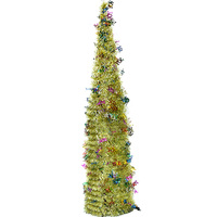 Simulation Christmas Tree Plastic Stand Shiny Holly Leaves Green Tree With Reflective Sequins Xmas Tree Decoration