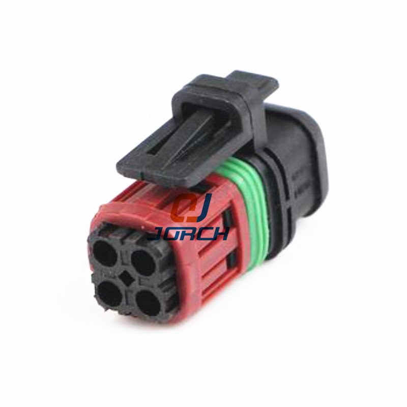 Free Shipping 5sets Tyco 4pin Housing Electrical Plug Auto Waterproof Female Wire Harness Cable Connector 1337352-1
