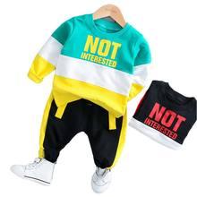 купить BOTEZAI 2019 Autumn Baby Girl Boy Clothing Sets Infant Clothes Suits Casual Sport T Shirt Pants Kid Child Clothes Suits по цене 534.08 рублей