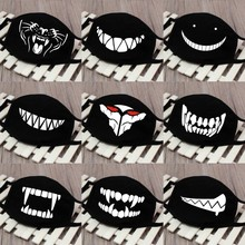 1PC Cartoon Face Mask Funny Teeth Pattern Unisex Cute Anti bacterial Dust Winter Cubre Bocas Hombre Mouth Mask High Quality