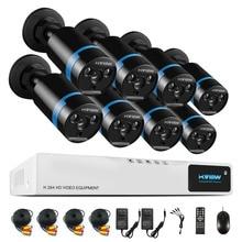 High Quality 1080P HD  Outdoor Security Camera System 1080P HDMI CCTV Video Surveillance 8CH DVR Kit  HDD AHD Camera Set