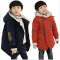 Thickened Boys Winter Jacket Cotton Hooded Solid For Kid Coat Casual Long Fashion Children Outerwear Thickened Boy Winter Jacket
