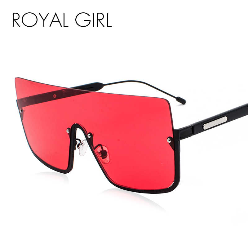 a62b6d4165a ROYAL GIRL Sunglasses Women Oversized Half Frame Brand Designer Luxury Sun Glasses  Square Women Unisex Retro