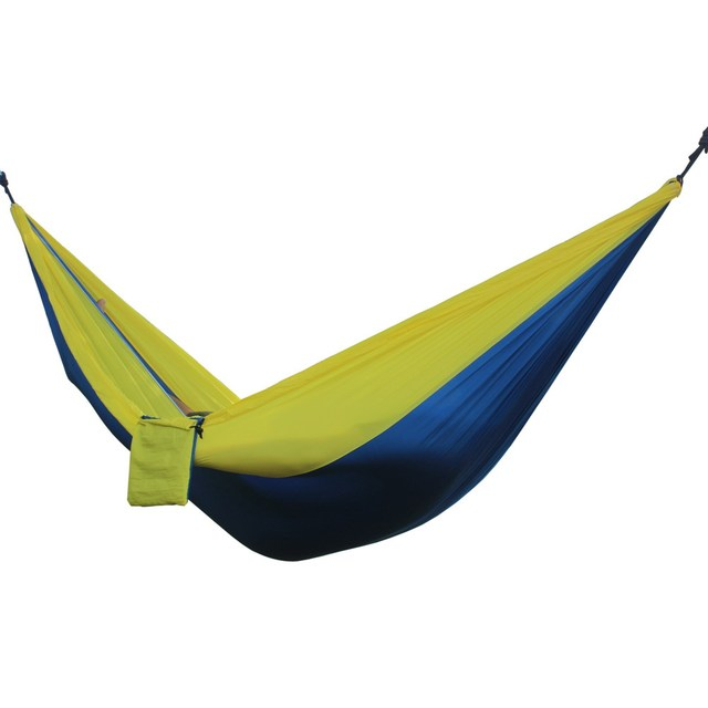 Portable Hammock 2 Person Camping Survival Hunting Leisure Travel Furniture Parachute