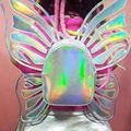Harajuku funny laser mystic mini backpack hologram colorful angel wing fashion girl's butterfly school bags shinning party bag