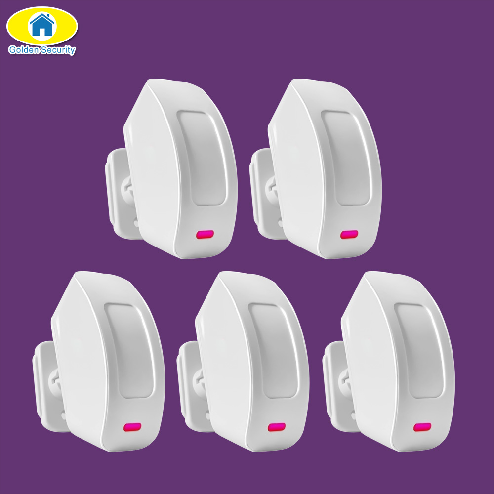 Golden Security 5Pcs P817 Wireless PIR Curtain Window Motion Sensor for KERUI Security Alarms G19 G18 8218G W2 Home Alarm System outdoor wireless motion sensor pet immune pir detector for golden security wifi gsm gprs alarm system for kerui 8218g g2 433mhz