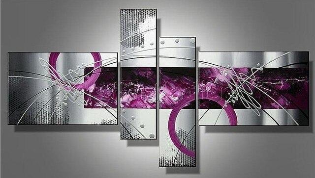 Aliexpress.com : Handmade 4 Stück Schwarz Weiß lila moderne ...