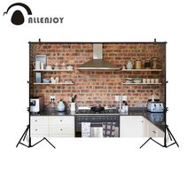 Allenjoy photography background old kitchen brick stylish home backdrop photobooth photocall shoot photo props sessions props