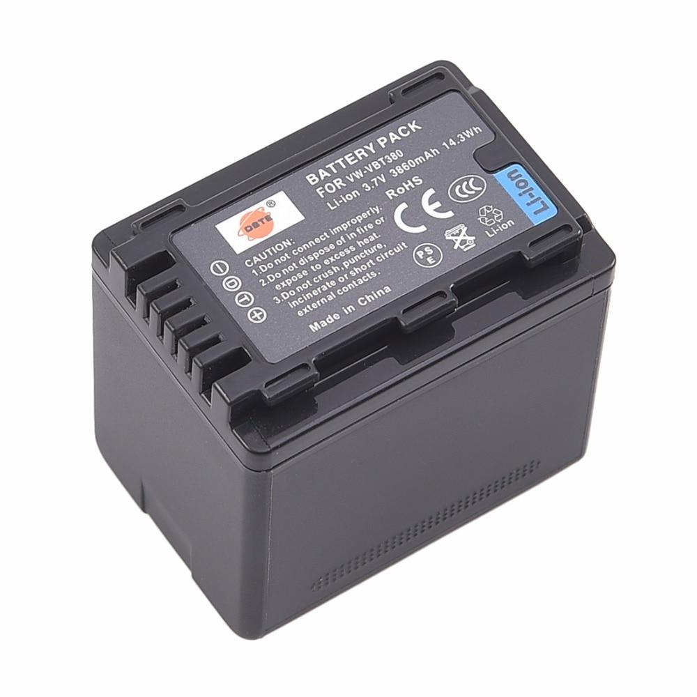 ФОТО DSTE VW-VBT380 Li-ion Battery Pack For PANASONIC HC-W580GK HC-V160GK HC-V380GK HC-V180GK HC-W580MGK HC-VX980GK W850GK W850MGK