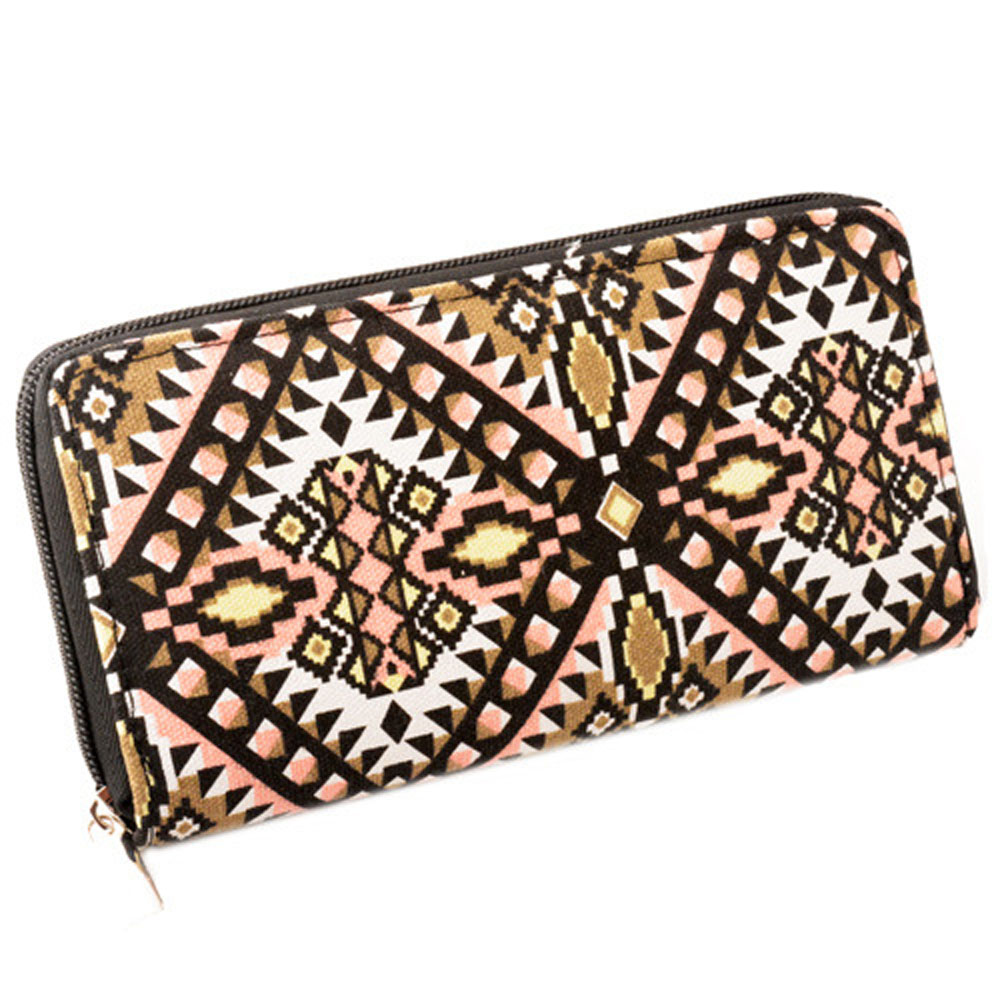 Womens Zip Around Wallet and Phone Clutch,Abstract Star Print,Travel Purse Leather Clutch Bag Card Holder Organizer Wristlets Wallets