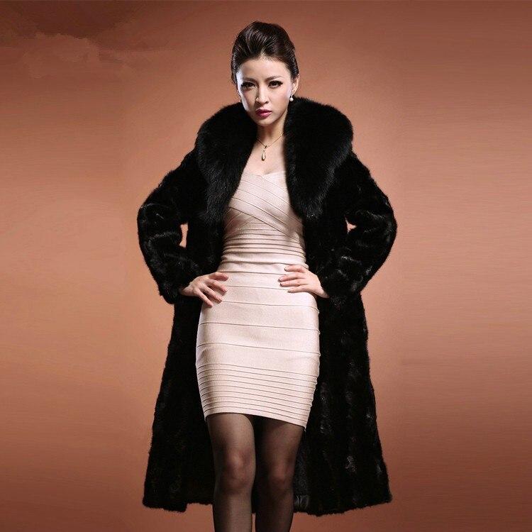 Noir D'hiver Lisa Fourrure Livraison Manteau Avec Gratuite Fausse Manteaux Femmes 2017 Col Renard De Mode Colly Femme En TYTaxrwBzq