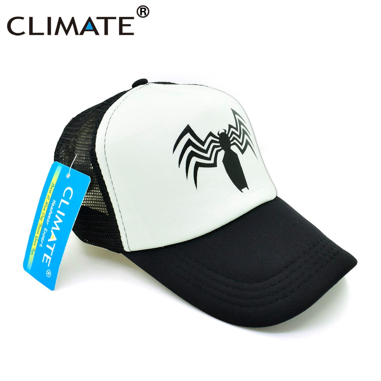 4e5dd7d53 CLIMATE New Men Venom Trucker Caps Hat Black SpiderMan Hip Hop Cool Venom  Mesh Caps Venom Summer Seaside Cap Hat for Men Youth-in Baseball Caps from  Apparel ...