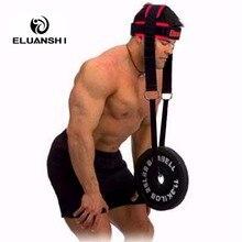 Гриф для тяжелой атлетики на шее, напульсники, ремни для силовых упражнений, фитнеса, бодибилдинга, регулируемая головка, для тренажерного зала, для кроссфита, гантели