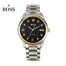 БОСС Германии часы мужчины люксовый бренд автоматические механические часы мужские из нержавеющей стали подлинной бизнес золотой relogio masculino
