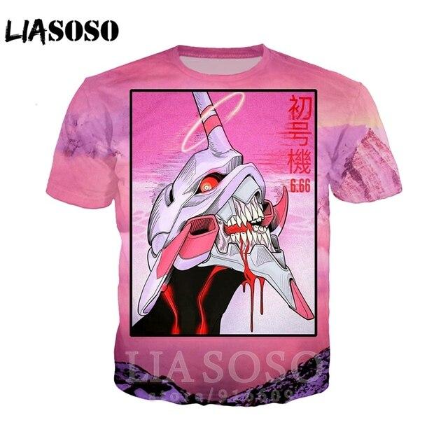 3D Druck frauen Anime EVA-01 TEST TYP Vaporwave shorts Harajuku männer streetswear kinder T shirt/Sweatshirt/hoodies/ zipper Tops E776