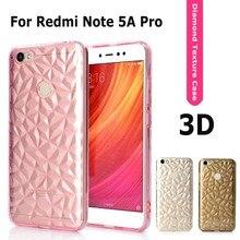 Phone Case for Xiaomi Redmi Note 5A Pro Diamond Grain Crystal texture Luxury Transparent Cover Redmi Note 5A Prime Case Coque