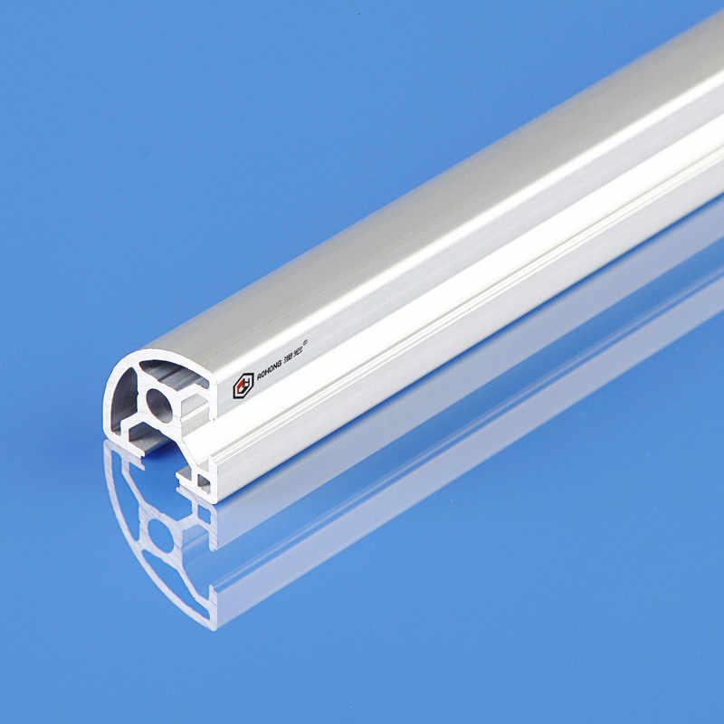 Полукруглый T слот Серебряный/черный анодированный 3030R 30 * 30R экструзионный алюминиевый профиль для/выставочного рабочего стола
