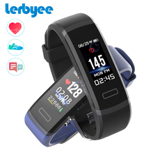 LERBYEE GT101 Tela Colorida Banda Inteligente Monitor de Sono Atividade Rastreador Rastreador De Fitness Monitor De Freqüência Cardíaca Homens Relógio Preto