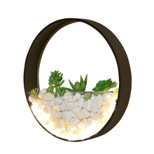 Nordic With plant+Stone Modern Led wall lights Creative bedside bedroom lamp wedding room staircase living room aisle wall lamp