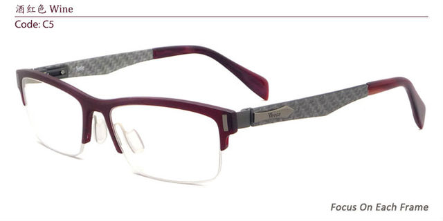 18578e04556 Women Fashion Super Lightweight Half Rim Acetate Eyeglasses Frames  Prescription Glasses