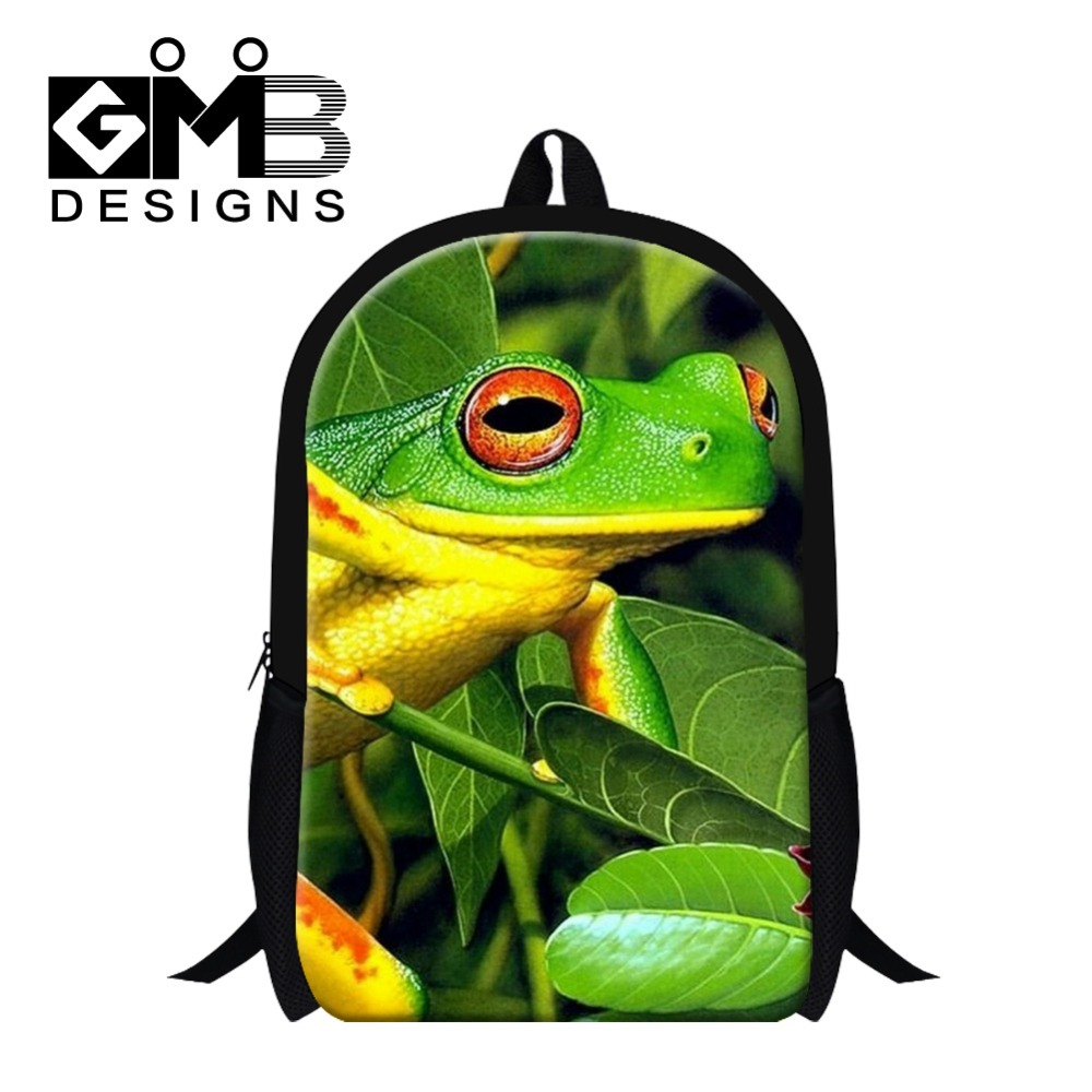 cute polypedatid Pattern school bakpacks for children,womens day pack,fashion bookbags for high class students,mochila back pak