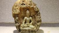 9 Tibet Folk Monastery Natural crystal handwork Carving Sakyamuni Buddha Statue