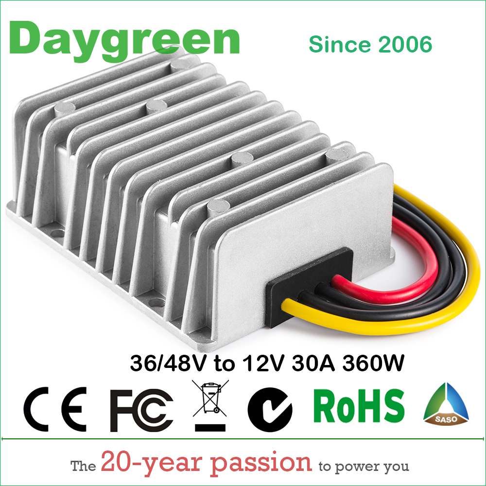 36V to 12V 30A 48V TO 12V 30A 360W Golf Cart Voltage Reducer DC DC Step Down Converter 36DC to 12VDC 30AMP CE RoHS
