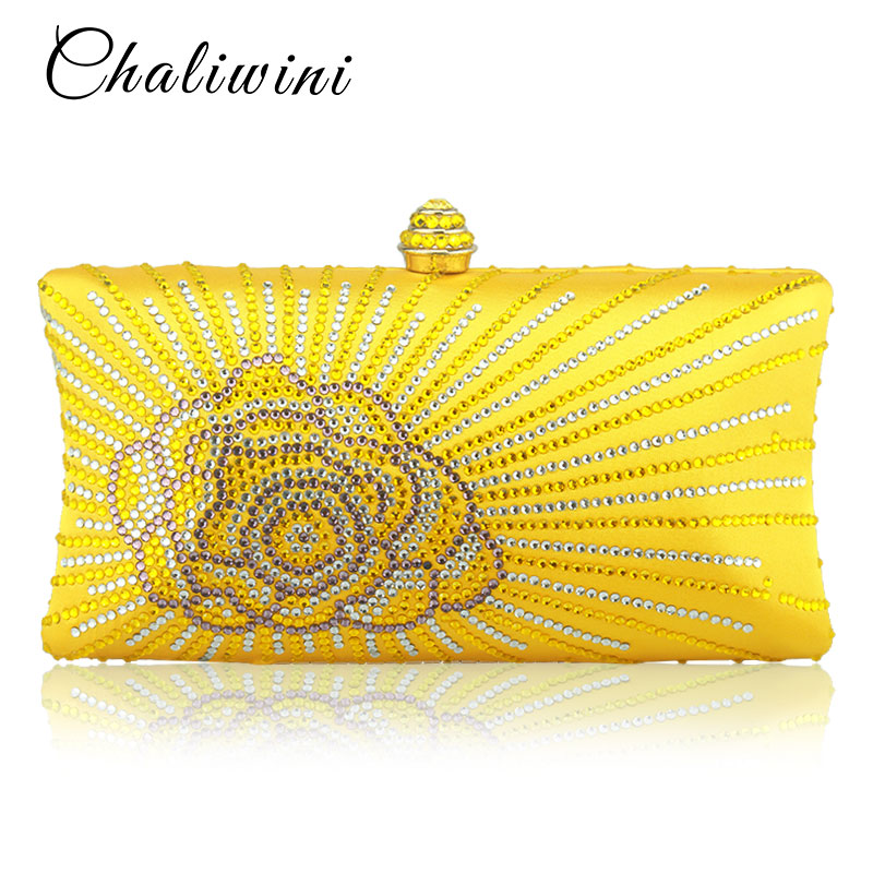 Wholesale Flap Crystal Floral Women Evening Clutch Bag India Toiletry Bag Wallet Designer Lady Bags 2019 Handbags Wedding Purse