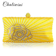 Wholesale Flap Crystal Floral Women Evening Clutch Bag India Toiletry Wallet Designer Lady Bags 2019 Handbags Wedding Purse