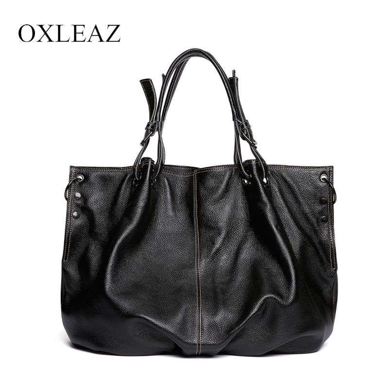 OXLEAZ Fashion Large Capacity Woman Handbag Genuine Leather Casual Tote Bag Messenger Crossbody Bags for Women Bolsa Feminina forudesigns fashion flower painting women casual tote bags large crossbody messenger bags for women female bag bolsa feminina