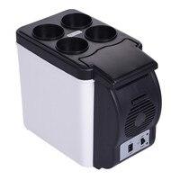 Mini 6L Warming Cooling Auto Koelkast DC 12 V voor Voertuig auto vriezer warmte koelkast Houden cool warm multi functie met charger