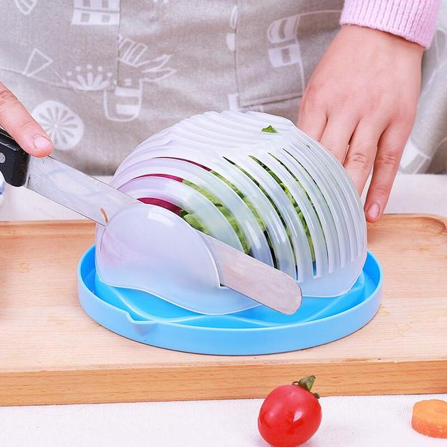 Salad Cutter Bowl for Kitchen (4 Colors)