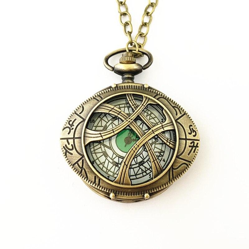 Fantasía universo envío gratis 20 piezas mucho Doctor extraño reloj de bolsillo collar HRDKFJFF088-in Collares colgantes from Joyería y accesorios    3