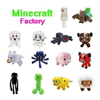 15 Gegner von Minecraft in Plüsch 16-26 cm Creeper, Enderman, Wolf, Steve, Zombie, Spinne und Sketelon
