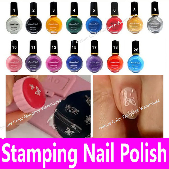 1bottle Special Stamping Nail Polish for Konad Painting Pattern Template Stamper Transfer Print Art Tool Manicure Lacquer 10ml