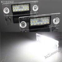MZORANGE 2PCS Pair 12V White Auto Car LED License Number Plate Lights Daytime Running Light For