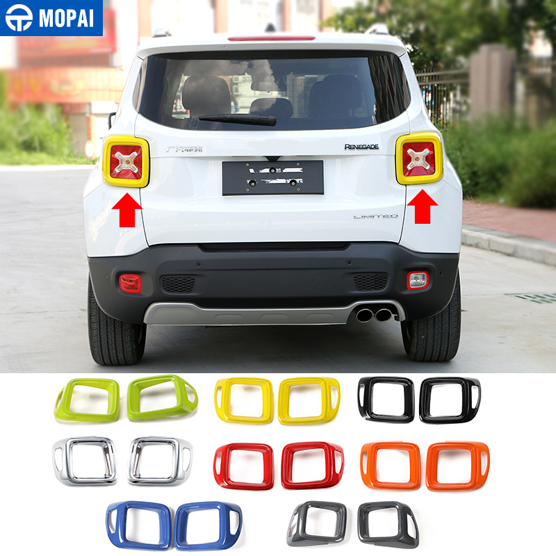 MOPAI ABS Car Exterior Rear Taillight Lamp Cover Decoration Stickers Accessories for Jeep Renegade 2015 Up Car Styling mopai abs car exterior accessories door handle decoration cover trim stickers for jeep wrangler 2007 up car styling