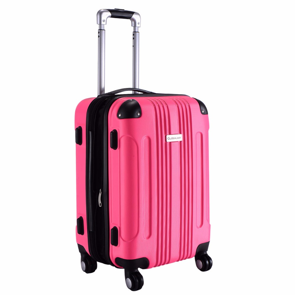 "Goplus 20"" ABS Luggage Bag Rolling Trolley travel Suitcase Portable Carry on Luggage Waterproof Travel Luggages Case BG50110