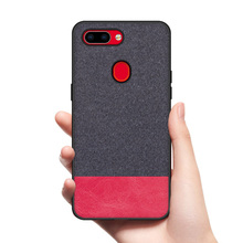 все цены на CoolDeal for OPPO R15 case OPPO R15 Pro back cover soft silicone edge shockproof fabric case for OPPO R15 Pro cover онлайн