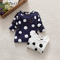 Girls Dots T-shirt New Spring Autumn Long Sleeve Cotton Boys T Shirt Cotton Toddler Baby Kids Cartoon Tops Tees