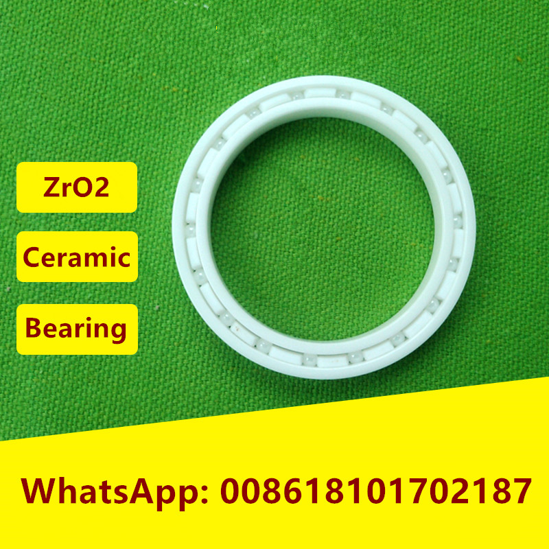 5pcs 6808 ZrO2 full Ceramic bearing 40x52x7 mm Zirconia Ceramic deep groove ball bearings  40*52*7 6806 full zro2 ceramic deep groove ball bearing 30x42x7mm 61806 full complement