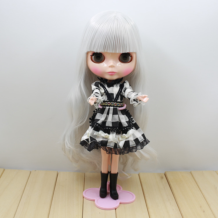 Free shipping Blyth doll Silver long hair with bangs nude  dolls for sale [zob] 100