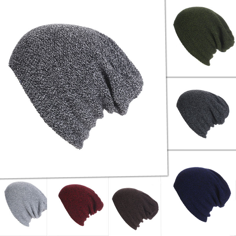 Winter Knitted Beanies Cap Solid Color Hat Unisex Warm Soft Beanie Skull Knit Hats Caps For Men Women -MX8 new winter beanies solid color hat unisex warm grid outdoor beanie knitted cap hats knitted gorro caps for men women