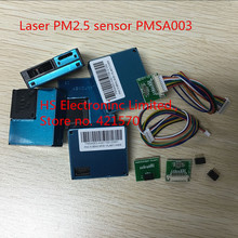 5 יח\חבילה לייזר PM2.5 אבק חיישן G10 גבוהה דיוק לייזר אבק ריכוז חיישן דיגיטלי אבק חלקיקים PMSA003 + USB + כבל