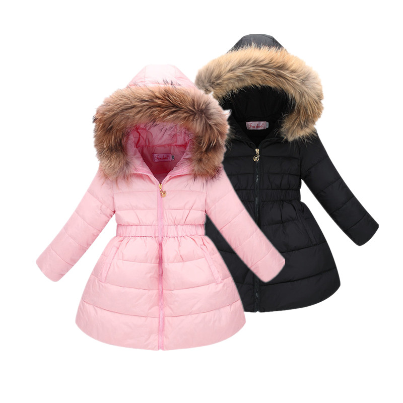 Winter Jacket for Girls Cute Down Coat with Feather Big Child 4 14T Hooded Winter White