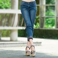 26-32 Women Casual Mid-waist Denim Jeans Korean Fashion Slim Skinny Trousers Ankle Length Pencil Pants Vestidos